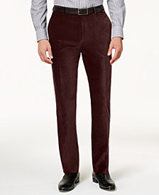 Calvin Klein Men's Slim-Fit Velvet Dress Pants