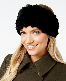 Marcus Adler Rabbit-Fur Stretch Headband
