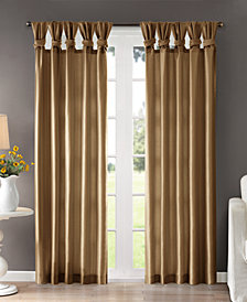 "Madison Park Emilia 50"" x 95"" Lined Faux-Silk Twisted Tab Window Panel"