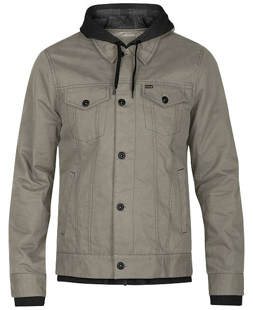 Hurley Men s Mac 3.0 Trucker Jacket - Coats   Jackets - Men - Macy s 699aac484fe