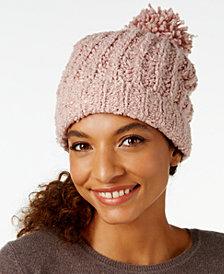 Marcus Adler Ultra-Soft Bouclé Pom Pom Hat