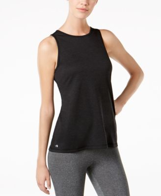 Ideology Short Sleeve Wrap Front Performance Athletic Top
