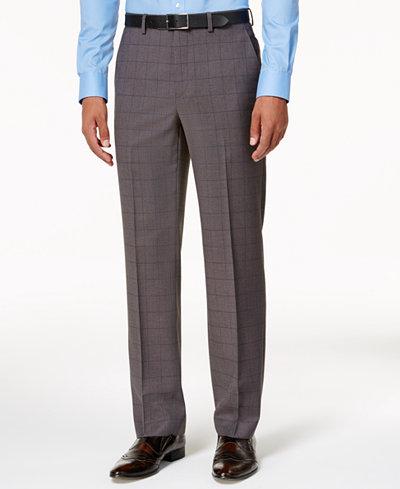 Sean John Men's Classic-Fit Gray & Blue Birdseye Stretch Pants