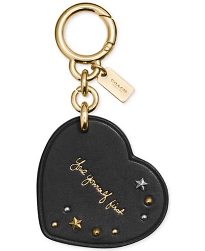 COACH Selena Gomez Heart Bag Charm