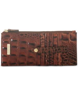 Image of Brahmin Credit Card Melbourne Embossed Leather Wallet