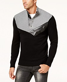 INC Men's Mock Neck Sweater, Created for Macy's