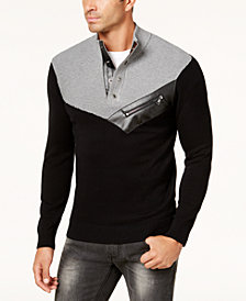 I.N.C. Men's Mock Neck Sweater, Created for Macy's