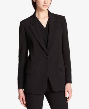 DKNY One-Button Blazer, Created For Macy'S in Black