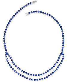 Sapphire (49-9/10 ct. t.w.) & White Sapphire Accent Collar Necklace in Sterling Silver