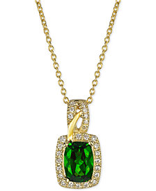 Le Vian® Pistachio Diopside® (3/4 ct. t.w.) & Diamond (1/8 ct. t.w.) Pendant Necklace in 14k Gold