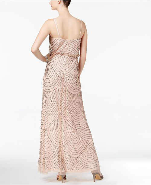 Adrianna Papell Beaded Blouson Gown - Dresses - Women - Macy\'s