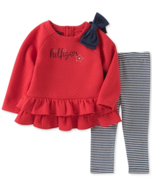 Tommy Girl 2Pc Quilted Tunic  Leggings Set Baby Girls (024 months)