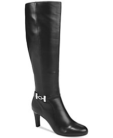 Bandolino Lamari Wide-Calf Dress Boots, Created for Macy's