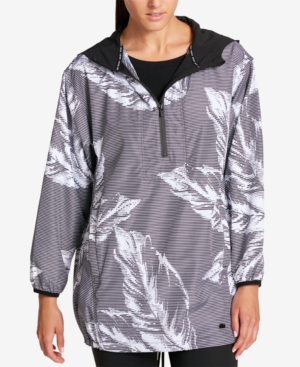 Dkny Sport Hooded Printed Pullover Jacket