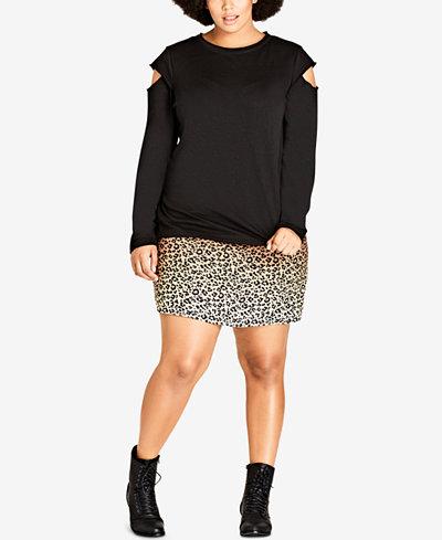 City Chic Trendy Plus Size Street Vibe Sweatshirt
