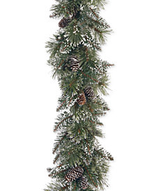 National Tree Company 6' Glittery Bristle Pine Garland With Pine Cones