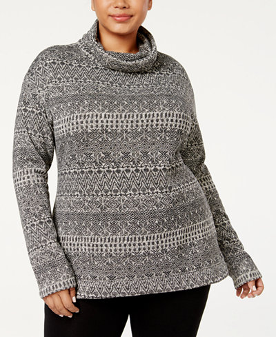 Columbia Plus Size Printed Cowl-Neck Sweater
