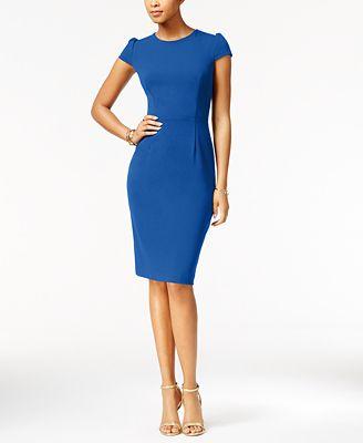 Betsey Johnson Puff Sleeve Scuba Dress Created For Macy S Dresses