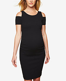 Motherhood Maternity Cold Shoulder Sheath Dress