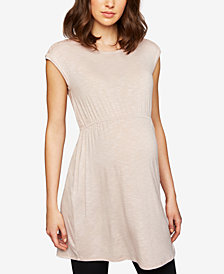 A Pea In The Pod Maternity French Terry Babydoll Tunic