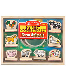 Melissa & Doug Farm Animals My First Wooden Stamp Set