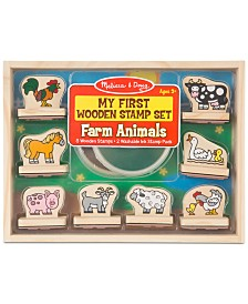 Melissa & Doug Farm Animals My First Wooden Stamp Set