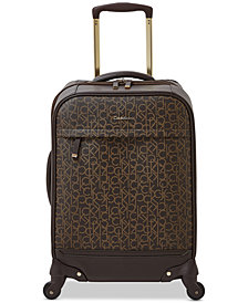 "Calvin Klein Mulberry 20"" Softside Spinner Suitcase"