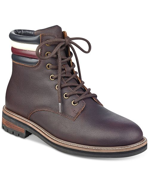 cf34809ff Tommy Hilfiger Men s Halle Lace-Up Lug Sole Boots   Reviews - All ...