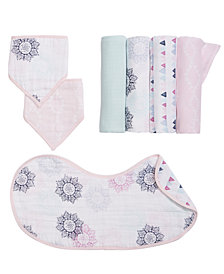 aden by aden + anais Baby Girls Printed Burpy Bib, Bandana Bibs & Swaddle Blankets