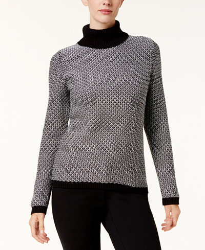 Karen Scott Cotton Turtleneck Sweater, Created for Macy's ...