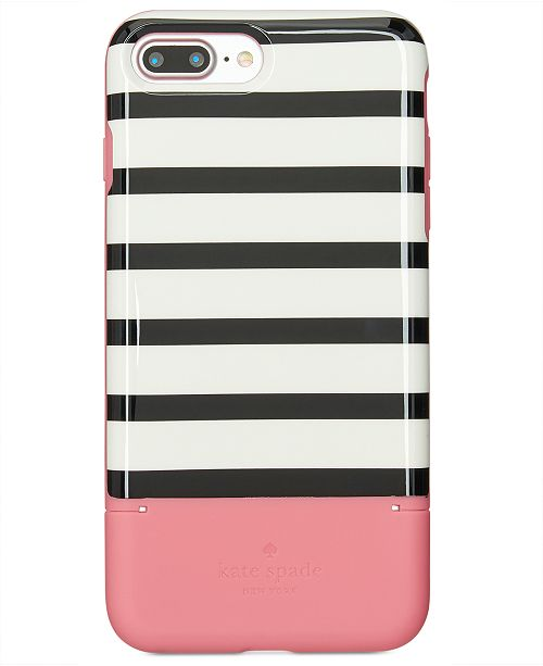 free shipping ea39d ee8cc kate spade new york Striped Credit Card iPhone 8 Plus Case ...