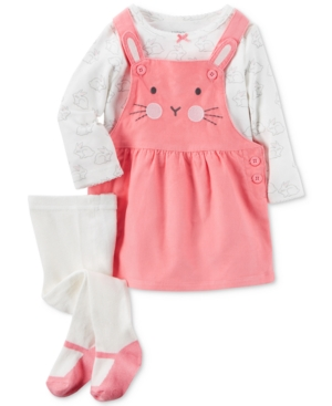 Carters 3Pc Top Bunny Jumper  Tights Set Baby Girls (024 months)