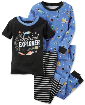 Carters 4Pc Bedtime Explorer Cotton GlowInTheDark Pajama Set Baby Boys (024 months)