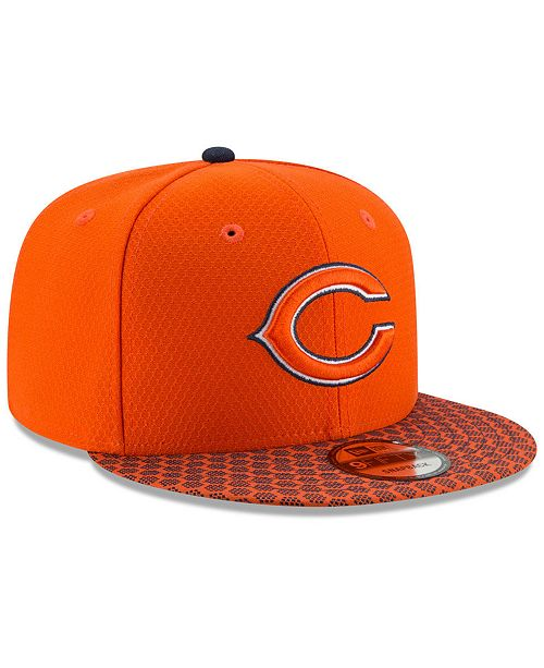 new product c2033 60190 ... New Era Chicago Bears Sideline 9FIFTY Snapback Cap ...