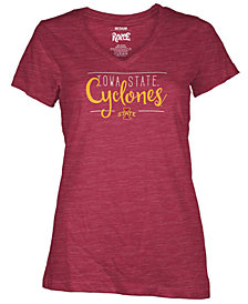 Royce Apparal Inc Women's Iowa State Cyclones Jazz Script V-Neck T-Shirt