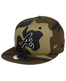 New Era Atlanta Braves Woodland Black/White 9FIFTY Snapback Cap