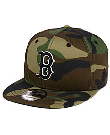 New Era Boston Red Sox Woodland Black/White 9FIFTY Snapback Cap