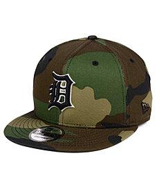 New Era Detroit Tigers Woodland Black/White 9FIFTY Snapback Cap