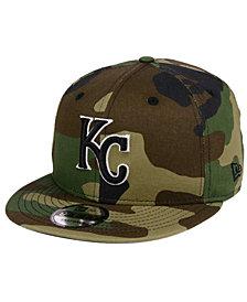 New Era Kansas City Royals Woodland Black/White 9FIFTY Snapback Cap