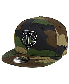 New Era Minnesota Twins Woodland Black/White 9FIFTY Snapback Cap