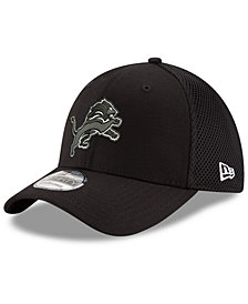 New Era Detroit Lions Black/White Neo MB 39THIRTY Cap