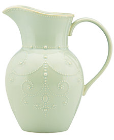 Lenox Dinnerware, French Perle Ice Blue Pitcher Large Pitcher