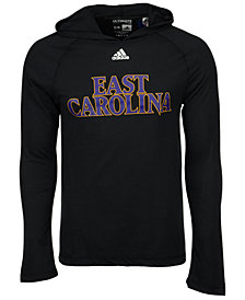 adidas Men's East Carolina Pirates Mark My Words Long Sleeve Hooded T-Shirt
