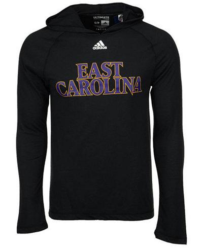 adidas Men's East Carolina Pirates Mark My Words Long Sleeve Hooded T-Shirt