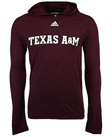 adidas Men's Texas A&M Aggies Mark My Words Long Sleeve Hooded T-Shirt