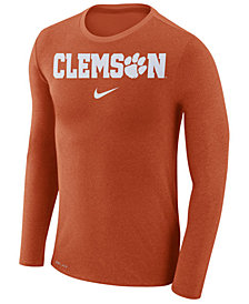 Nike Men's Clemson Tigers Marled Long Sleeve T-Shirt