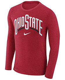 Nike Men's Ohio State Buckeyes Marled Long Sleeve T-Shirt