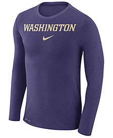 Nike Men's Washington Huskies Marled Long Sleeve T-Shirt