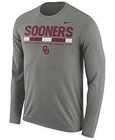 Nike Men's Oklahoma Sooners Legend Sideline Long Sleeve T-Shirt