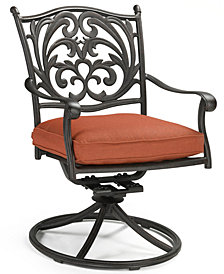 Chateau Cast Aluminum Outdoor Dining Swivel Rocker, Created for Macy's